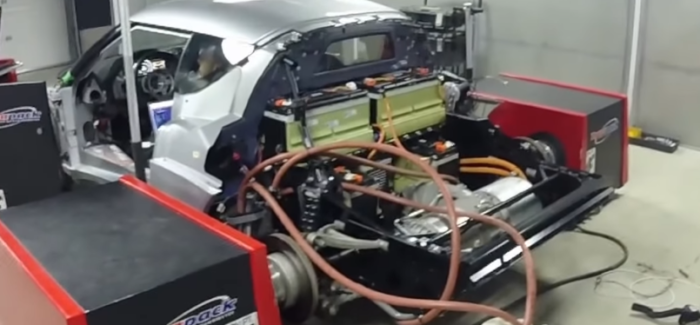 Lotus Evora With Tesla ENgine Makes 440whp on Dyno – Video