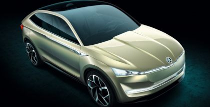 Skoda Vision E Coupe Crossover Concept Photos Leaked