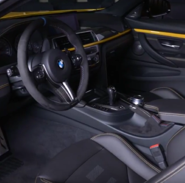Speed Yellow BMW M4 Competition Package With Carbon Kit