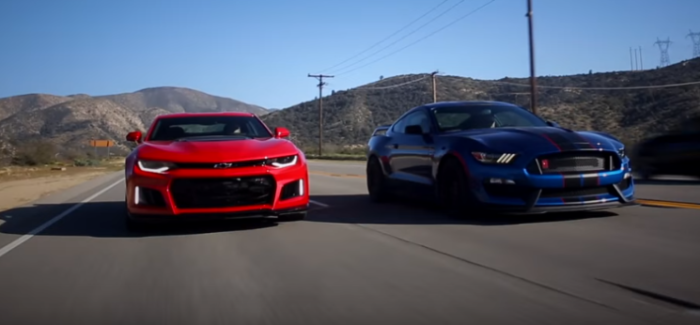 2017 Ford Mustang Shelby GT350R vs 2017 Chevy Camaro ZL1 – Video