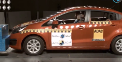 2017 Kia Rio Sedan NO Airbags Crash Test
