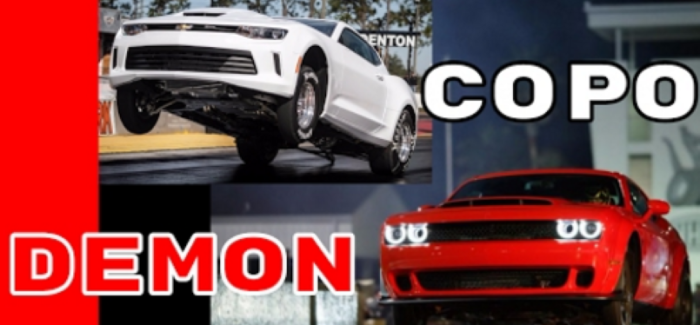 COPO Camaro vs Dodge Demon Exhaust Sound, Launch, & Acceleration – Video