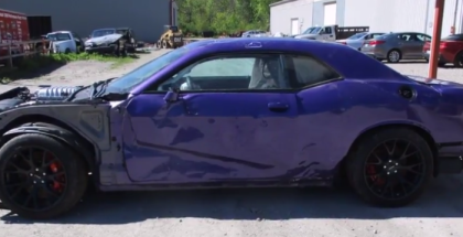 Crashed Dodge Challenger Hellcat With Only 9K Miles