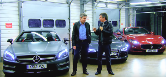 Fifth Gear Drag Race – Mercedes vs Audi vs Maserati – Video