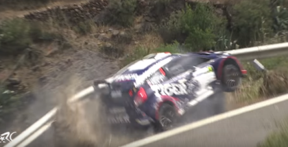 Rally Car Saved By Metal Guardrail (1)