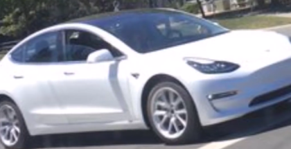 Tesla Model 3 Prototype Spotted in Palo Alto (1)