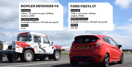 Top Gear Drag Race - Bowler Defender V6 vs Ford Fiesta ST (2)