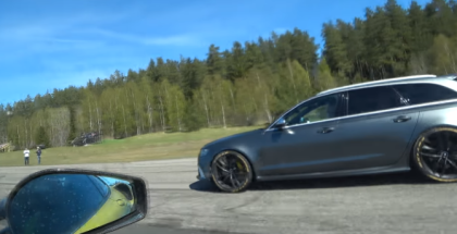 Tuned Audi RS6 Avant Stage 2 vs Ferrari 430 Scuderia (1)