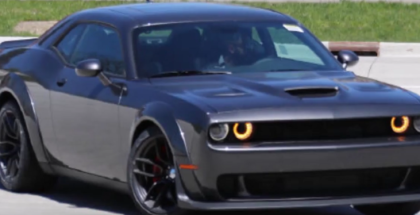 Widebody Dodge Challenger Hellcat Spied (1)