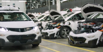 GM Production of Self Driving Chevrolet Bolt EV Test Vehicles