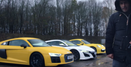 Top Gear Honda NSX vs Audi R8 V10 vs Porsche 911 Turbo Chris Harris Review (1)