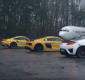 Top Gear Honda NSX vs Audi R8 V10 vs Porsche 911 Turbo Chris Harris Review (2)