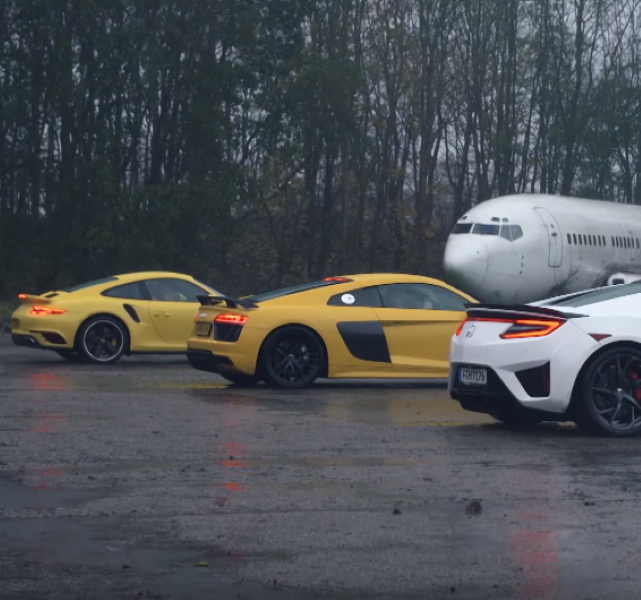 Top Gear Honda NSX Vs Audi R8 V10 Vs Porsche 911 Turbo