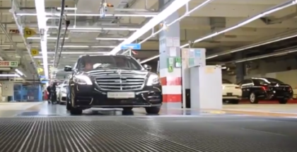 2018 Mercedes S Class Drives Off Assembly Line With Autopilot