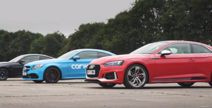 Drag Race - New Audi RS5 vs BMW M4 vs Mercedes AMG C63S (1)