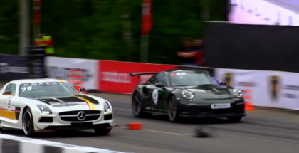Drag Race - Porsche GT3 RS vs Corvette Z06 vs SLS AMG (1)