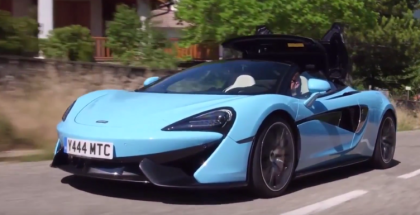 McLaren 570S Spider Curacao Blue, Sicilian Yellow, and Vega Blue