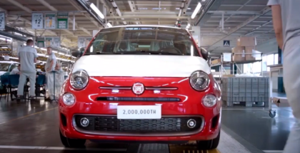 The 2 millionth Fiat 500 On The Factory Assembly Line