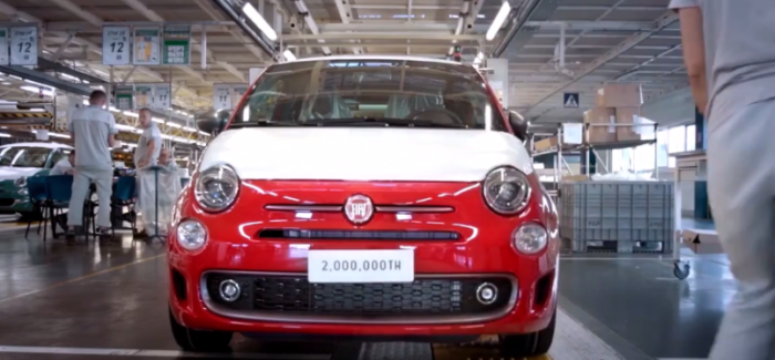 The 2 millionth Fiat 500 On The Factory Assembly Line – Video