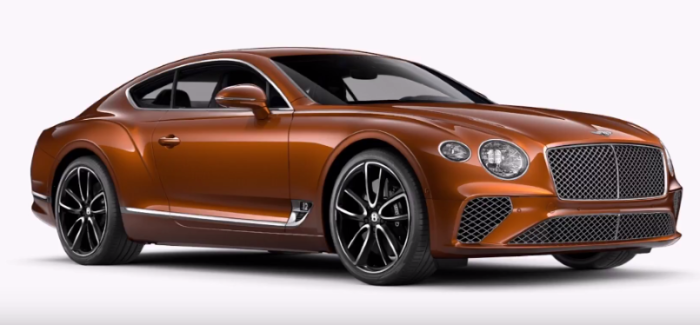 2018 Bentley Continental GT Colors & Wheels