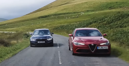 Alfa Romeo Giulia Quadrifoglio vs 2018 BMW M3 Competition Pack (1)