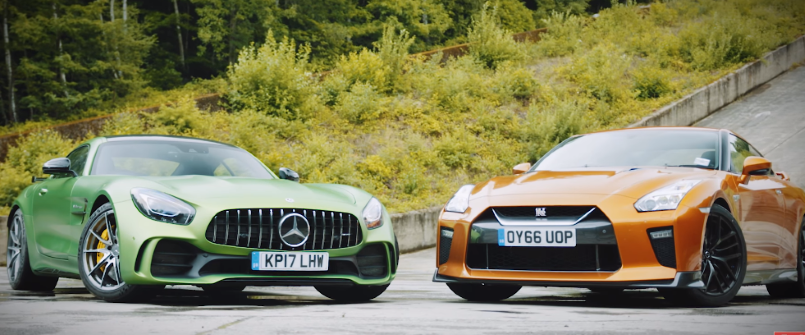 Nissan Gt R Vs Mercedes Amg Gt R Video Dpccars