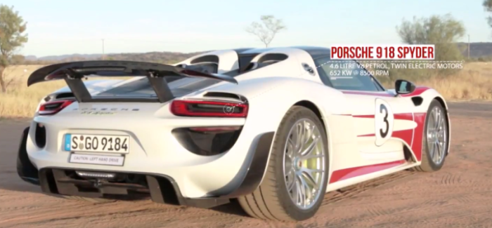 porsche 918 spyder hits 217mph 350km h video dpccars. Black Bedroom Furniture Sets. Home Design Ideas