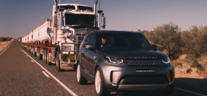 2018 Land Rover Discovery Towing 110 Tonne Train – Video