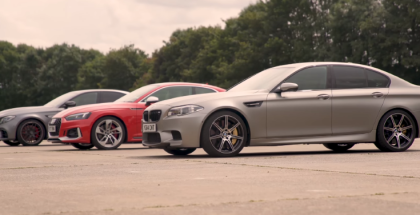 Drag Race - Mercedes AMG E63S vs BMW M5 vs Audi RS5 (1)
