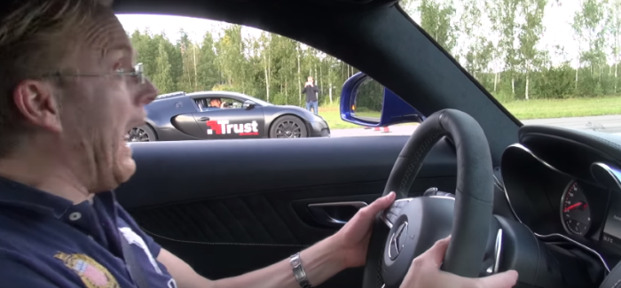 Drag Race – Mercedes-AMG GT S Coupe vs Bugatti Veyron 16.4 – Video