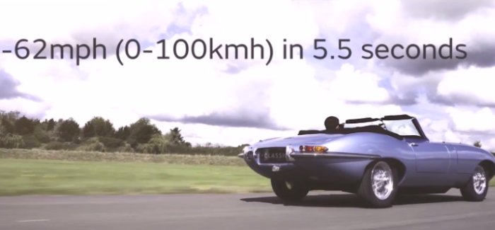 Electric Jaguar E type Zero Classic – Video