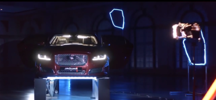 Flying Drones Through 2018 Jaguar XJL (2)