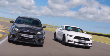 Ford Focus RS vs Mustang GT (1)