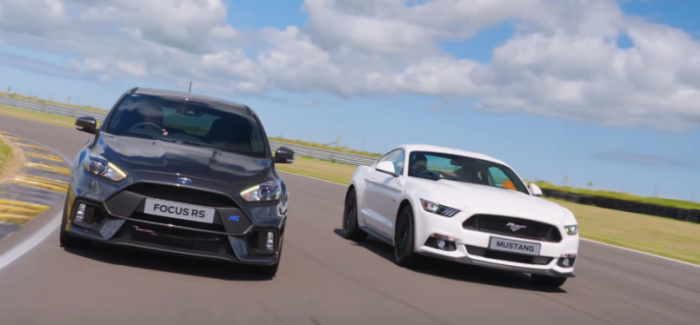 Ford Focus RS vs Mustang GT – Video
