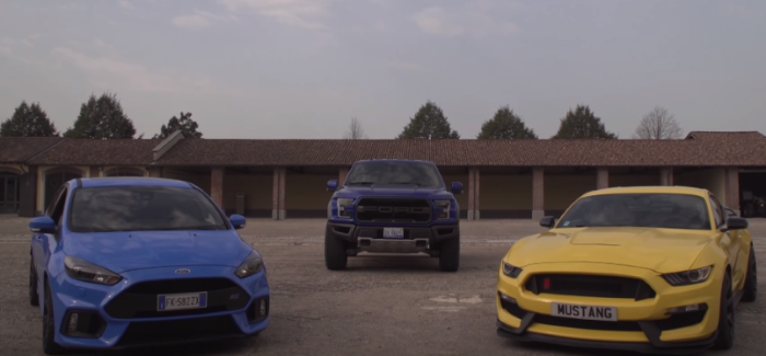 Ford Raptor, Shelby GT350, Focus RS Track & Walkaround – Video