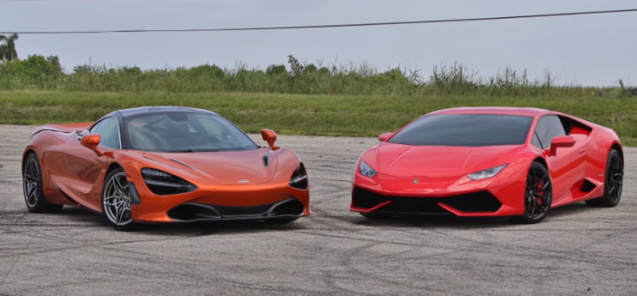 McLaren 720S vs Lamborghini Huracan LP610-4 – Video