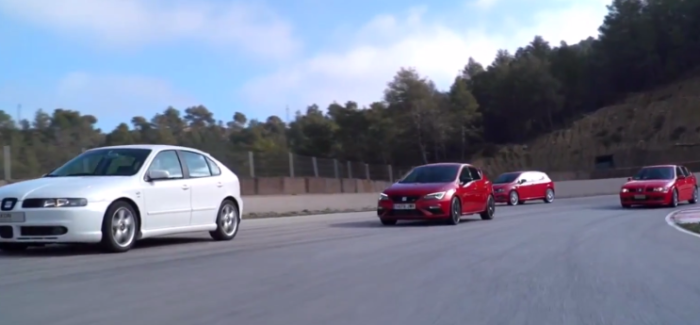 New Seat Leon Cupra With Older Generations – Video