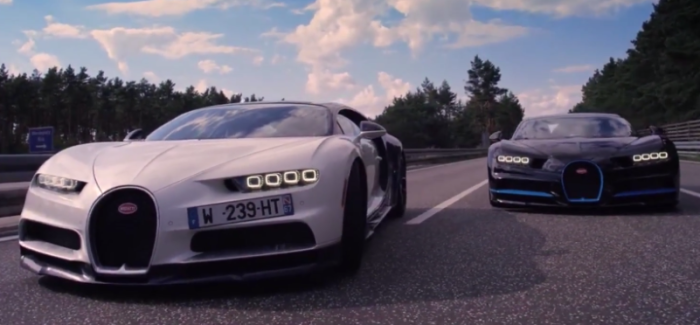 Filming The Bugatti Chiron Record Run With Another Chiron – Video