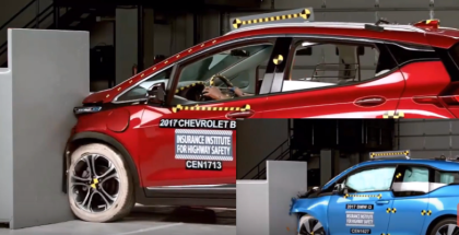 2017 Chevy Bolt vs 2017 BMW i3 Crash Test & Rating