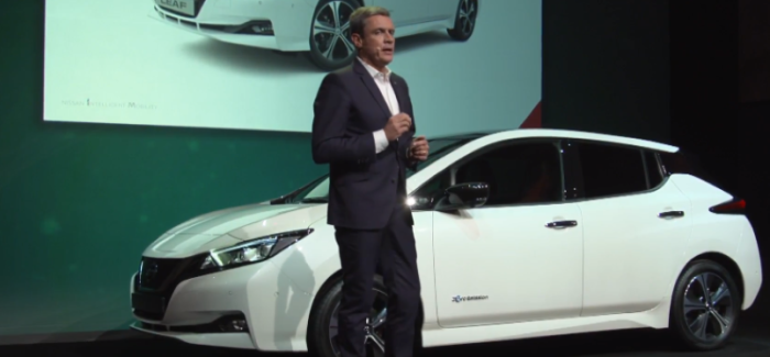 2018 Nissan Leaf Unveiling At Nissan Futures 3.0 – Video