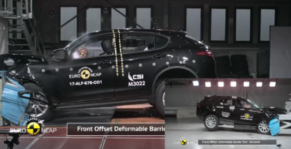 Alfa Romeo Stelvio vs Range Rover Velar Crash Test & Rating