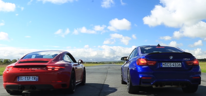 Drag Race - Porsche 911 Carrera GTS Murders BMW M4 CS (1)