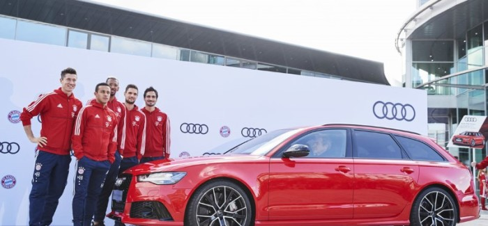 FC Bayern München Receives New Audi Models Including Audi RS6, Avant, SQ7 TDI, SQ5 – Video