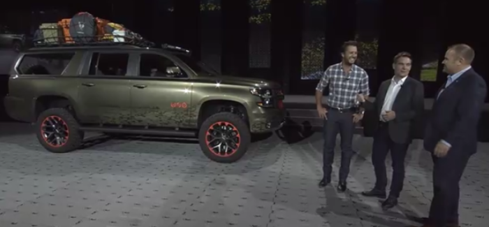 Luke Bryan Chevy Suburban Concept Unveiling – Video