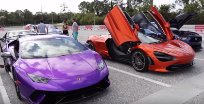 McLaren 720S runs 9's & The First Lamborghini Huracan Performate Run