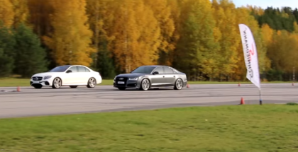 Rolling Race - 612 HP Mercedes AMG E63 S 4MATIC+ vs 605 HP Audi S8 Plus (1)