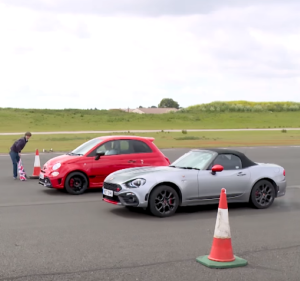 Top Gear Drag Race - Abarth 595 Comp vs Abarth 125 Spider (2)