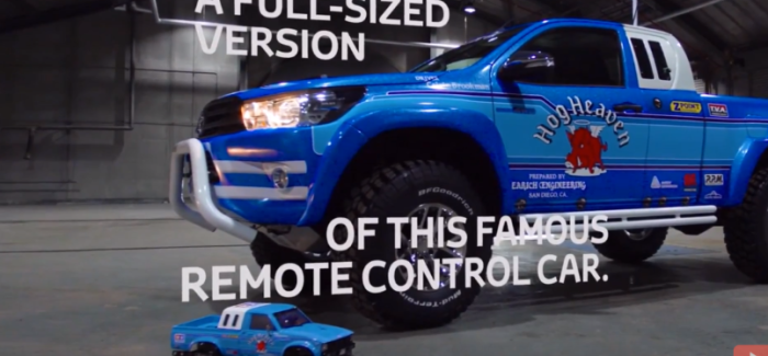 Toyota Hilux Bruiser Life Sized RC Replica – Video