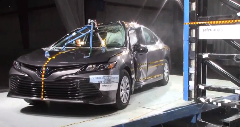 2018 toyota camry crash test rating 5 stars video