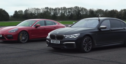 Drag Race - BMW M760Li vs Porsche Panamera Turbo (1)
